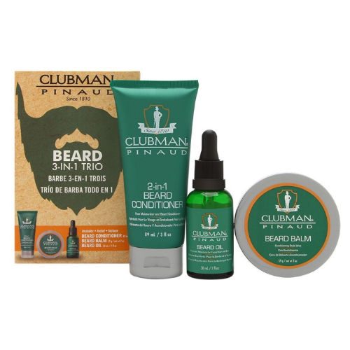 Clubman Pinaud 3-IN-1 Beard Trio Gift Pack